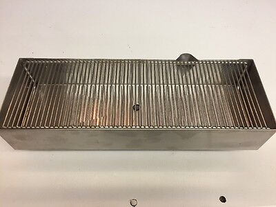 5 X 15 X 2.5 Inch Stainless Steel Drain Tray Pan Trough With Chrome Wire Grate