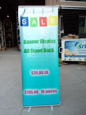 A SET New Banner Stand AD Display Stand Rack
