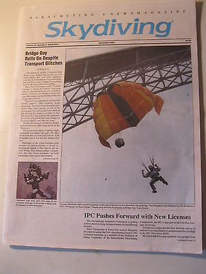 Vintage Skydiving Magazine December 2000 Skydive 50+ pgs BASE B.A.S.E. wingsuit