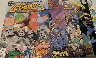 Legends #1-6 first Suicide Squad vf/nm