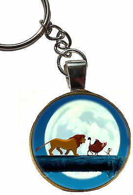 the lion king simba timon pumbaa figure keyring charm bag zip