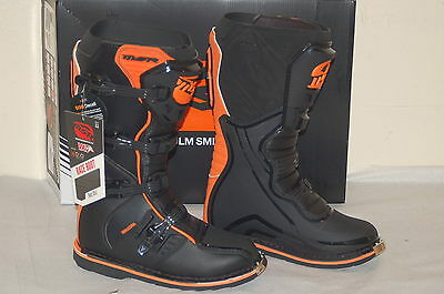 MSR VXIIR motocross racing boots black orange size men's 11 new in box