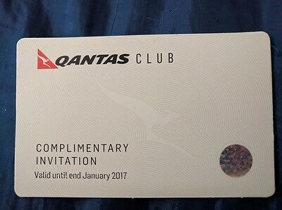 Qantas Club Lounge Pass - expires by the end of of January 2017