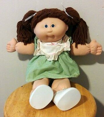 15th Anniversary Cabbage Patch Kid Doll Collectible - Brown Hair, Blue Eyes