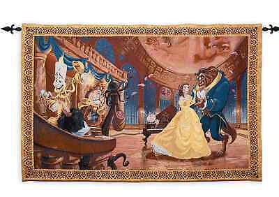 Authentic Disney Belle Beauty And The Beast Hanging Wall Tapestry Wall Hanging