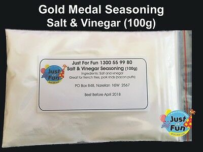 Gold Medal Salt & Vinegar Spiral Potato Seasoning for Hot Chips (100g)