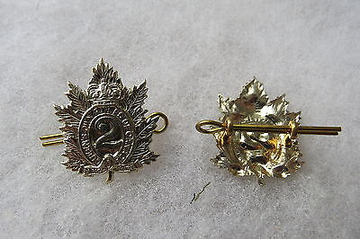 NEW LIST! #038 Canadian Military Insignia - Queens Own Rifles collar pair