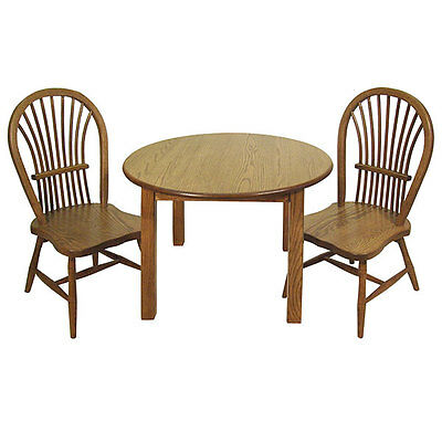 amish kids table u0026 chairs set solid oak wood free shipping - Childrens Table And Chair Set