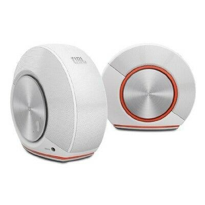 JBL Pebbles Plug and Play Stereo Computer Speakers - White - NEW IN BOX