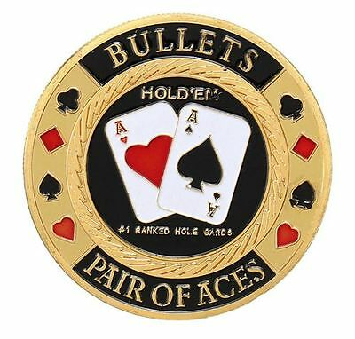 Pair of Aces-Bullets Casino Poker Card Guard Cover Protector