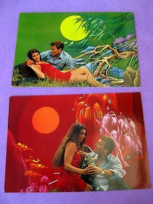 SPANISH (Barcelona) ROMANCE  POSTCARDS x 2 - Purchased in 1975- Postally unused!