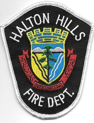 "Halton Hills Fire Dept., Ontario, Canada (3.5"" x 4.5"" size) fire patch"