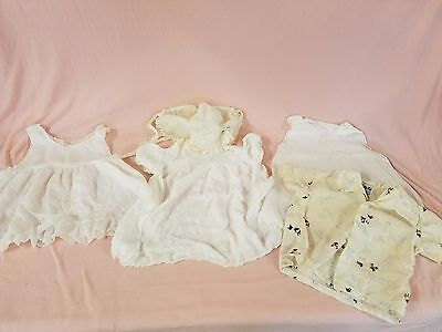 Vintage Baby Girl Clothes Handmade Philippines, Portugal & U.s. (5 Piece Lot)