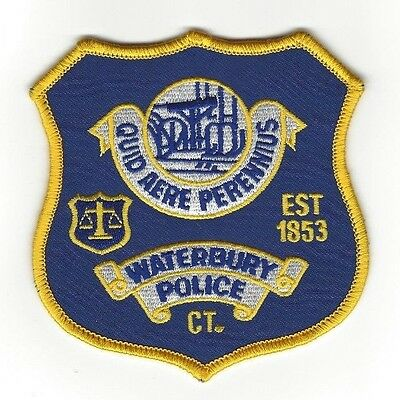 Waterbury CT Connecticut Police Dept. LEO patch - NEW!