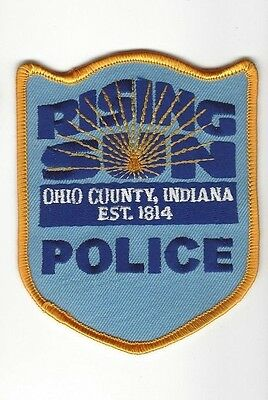 Rising Sun (Ohio County) IN Indiana Police Dept. LEO patch - NEW!