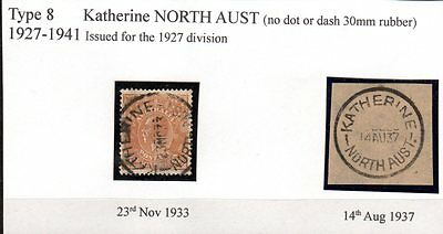 1933 & 1937 KGV 5d with KATHERINE NORTH AUST plus an unstamped