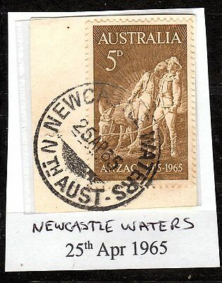 1965 Anzac stamp cancelled NEWCASTLE WATERS Nth AUST
