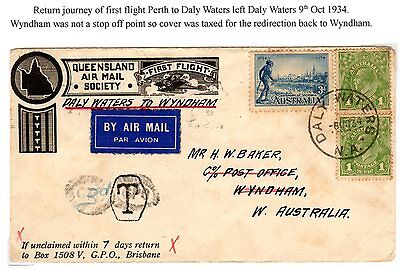1934 flight cancelled DALY WATERS NA and taxed