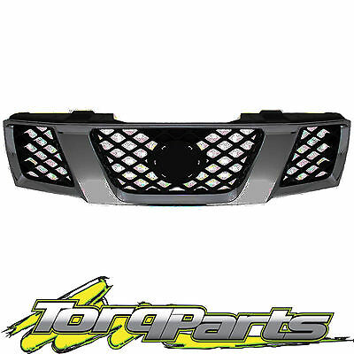 Grille Grey/black Suit D40 Nissan Navara 05-10 Spain Vsk Grill Front Bar