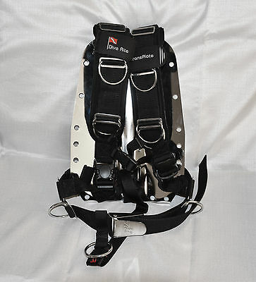 Dive Rite TransPlate Harness Hollis Steel Backplate System for Technical Diving