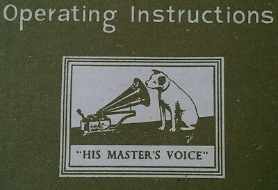His Master's Voice operating instructions
