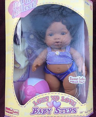 """Berenguer~RARE~SWEET SOFIA~10"""" Lots to Love Baby Steps~  Beach Day  MIP"""