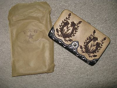 New P & G Collection Western Lucky Horseshoe Wallet with Bling