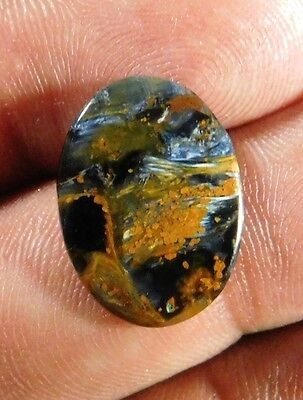 5.85Cts Fantastic 100% Natural Pietersite 18X14X2 Cabochon  Loose Gemstone