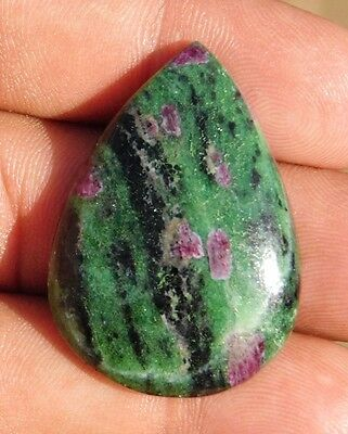 67.45cts wonderfull 100% natural  ruby zoisite pear shape cabochon gemstone