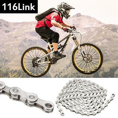 116 Links 10 Speed Anti-rust Steel Bicycle Chain For BMX MTB Mountain Road Bike
