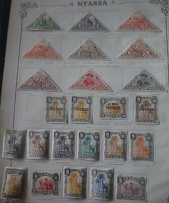 Nyassa Mozambique 1901-1924 62 Different Stamps ( Some Complete Sets )