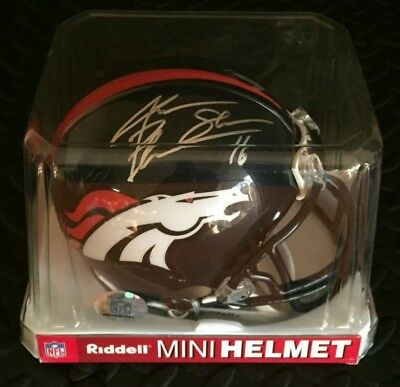 Jake The Snake Plummer Denver Broncos 16 Signed Autographed Mini Helmet