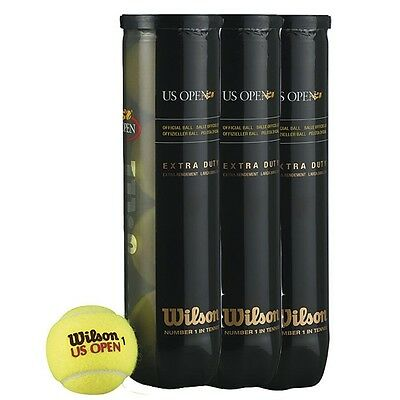 One Dozen (12 Ball ) Wilson Us Open Tennis Ball, Balls  Uk Free Tracked Delivery