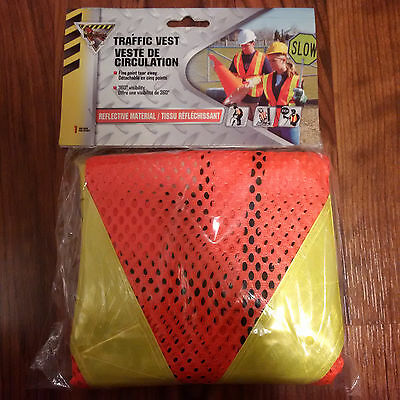 Traffic Vest 5 Point Tear Away Construction Safety - Brand New!