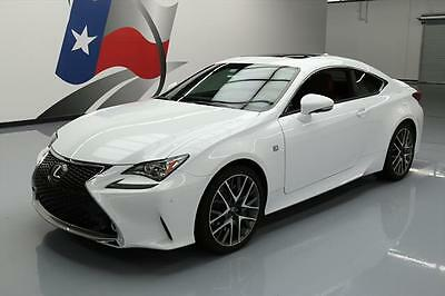 2015 Lexus RC  2015 LEXUS RC350 COUPE F-SPORT SUNROOF NAV REAR CAM 11K #001222 Texas Direct
