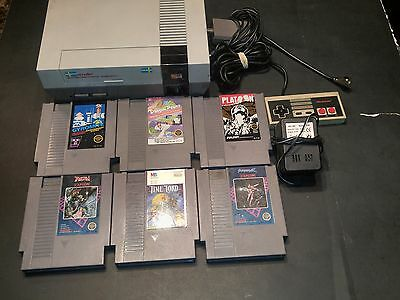 Nintendo entertainment system bundle INCLUDING Dragon power & 5 other games