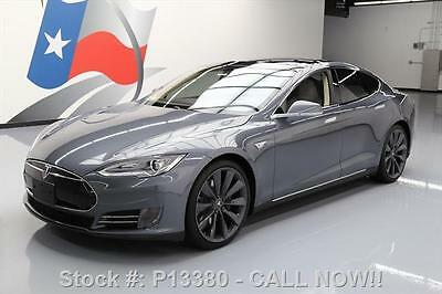2013 Tesla Model S  2013 TESLA MODEL S P85 PERFORMANCE PANO NAV 21'S 37K MI #P13380 Texas Direct