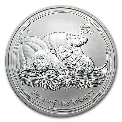 2008 Australia 1 oz Silver Lunar Mouse (from mint roll)