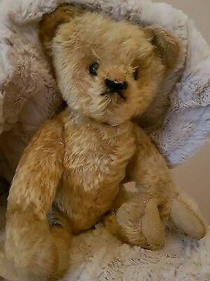 Antique bear- Fully Jointed- 1930-50 - 28cm❤ mohair- Cute