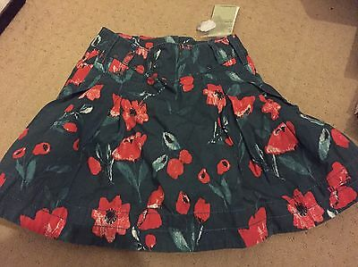 5 Year Old girl Child Mexx Skirt Real Poppies Lined Winter Bnwt New Adjustable