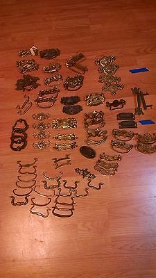 HUGE Lot of Vintage/Antique Brass Pulls