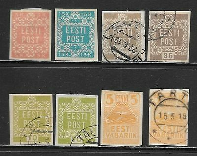 ESTONIA 1918-1919 Early Mint and Used Issues Selection (Nov 0216)