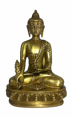 """SALE"" Medicine Buddha Bronze Statue -Supreme Healer of Physical & Illness 1.6Kg"