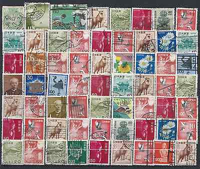 JAPAN: Small stamp collection + 3 Post cards 6 scans.