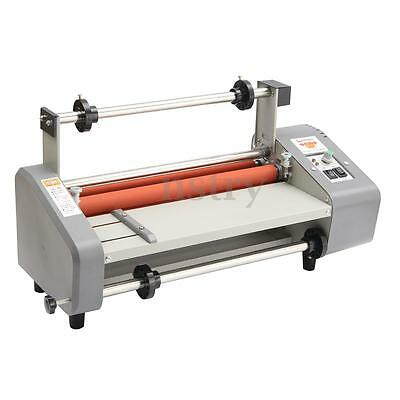 19''  Laminating Machine Laminator 4 Roller Hot Cold Double Side Roll 220V 700W