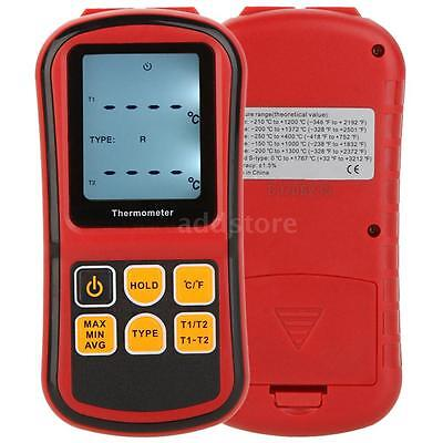 GM1312 Digital Thermometer Temperature Meter Tester fr K/J/T/E Thermocouple K3N6