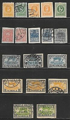 ESTONIA 1919-1920 Early Mint and Used Issues Selection (Nov 0217)