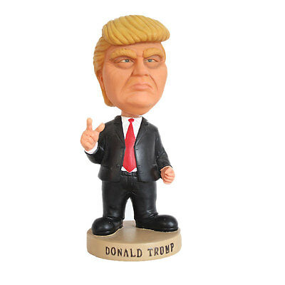 United States Donald Trump Dolls Shaking Head Car Desk Oranment Resin Figures