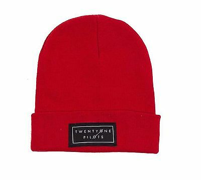 21 Twenty One Pilots Beanie Hat Classic Band Logo Clique Official New Red Cap