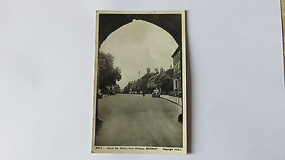 Postcard, Beverley, Yorkshire. North Bar Within from Without. Posted 1958.